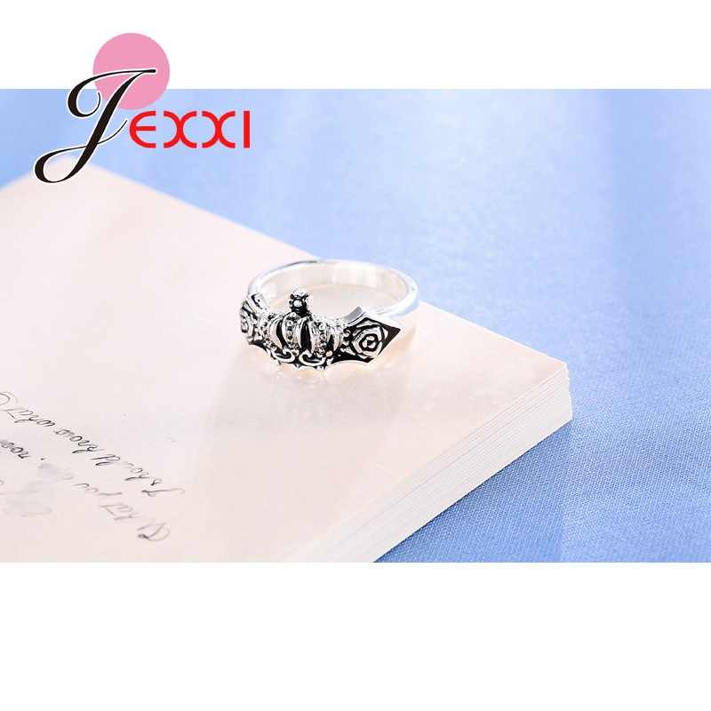 Moda preço por atacado vintage hip-pop rock anéis para feminino & masculino s925 prata esterlina anel de coleta acessórios louco