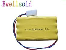 Ewellsold RC car RC truck 2878 RC boat RC tank 9.6v 800mAh Ni-CD rechargeable battery  2PCS free shipping