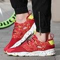 2016 de La Moda de Los Hombres Zapatos Casuales Zapatos de Deporte Para Hombre Pisos Lindos Zapatos Entrenadores Aire Cesta De Malla Transpirable Zapatos Para Caminar Zapatillas Hombre