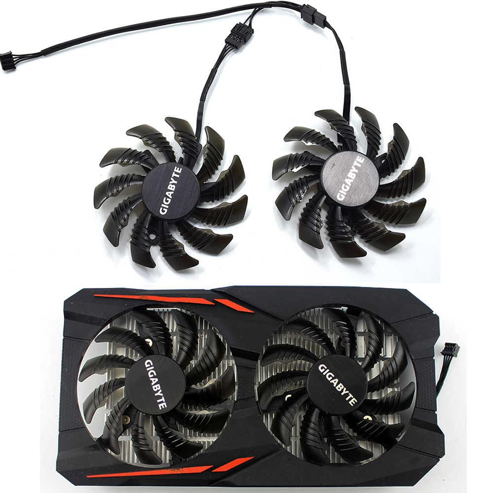 New 75 MM PLD08010S12HH T128010SU 4Pin 0.35A Cooler Fan Thay Thế Cho Gigabyte GTX 1050Ti 1050 RX 550 RX560 Đồ Họa Video thẻ