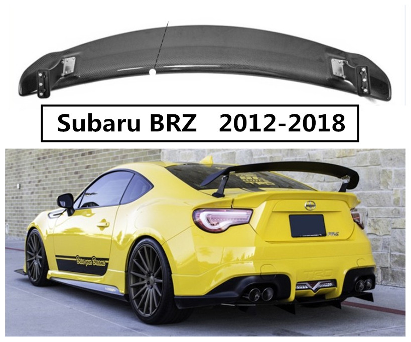 In Fibra di carbonio Spoiler Per Subaru BRZ 2012 2013 2014 2015 2016 2017 2018 Ala Spoiler di Alta Qualità Accessori di Modifica Dell'automobile