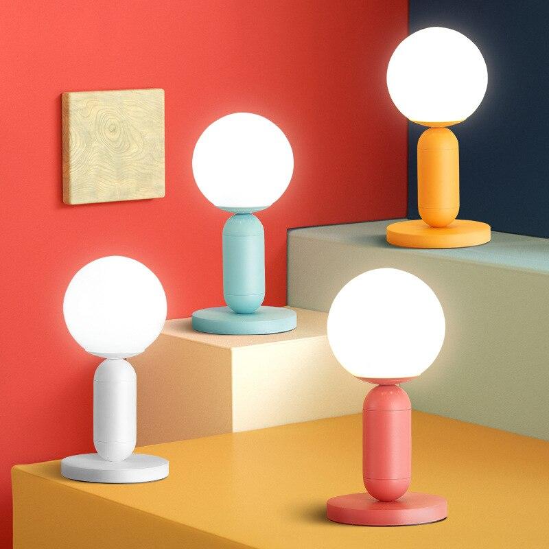 Nordic Persönlichkeit Einfache Kreative Büro Tisch Lampe Kinder Zimmer Nacht Lampe Schlafzimmer Studie Cafe Makaron Lampe Freies Verschiffen - 2