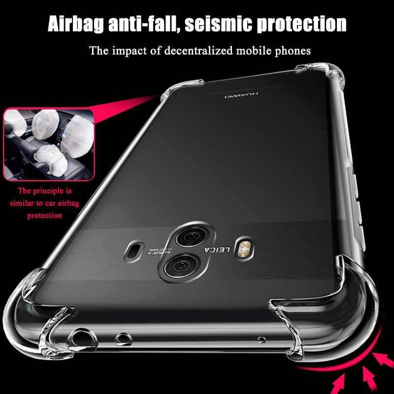 Lembut Tpu Pelindung Case untuk Huawei P20 Lite Mate 10 Pro 20 Lite Nova 3i 3 Transparan Back Cover Coque untuk Kehormatan 9i 9 Lite Capa