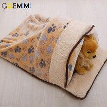 New Arrival Cat Warm Cave Fleece Winter Bed For Pet Puppy Mats Sleeping Bag Lovely Hamburger Cushion Rabbit