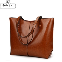 Large Capacity Casual Tote Bags 2018 Genuine Leather Women Handbags High Quality Multi Functional Lady Retro