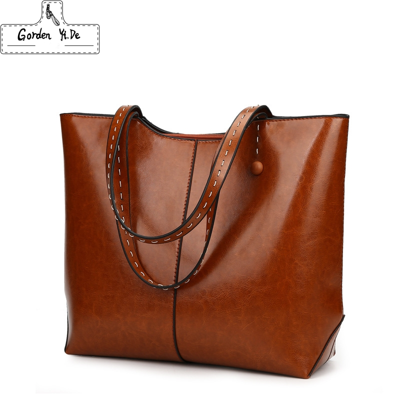 Large Capacity Casual Tote Bags 2018 Genuine Leather s