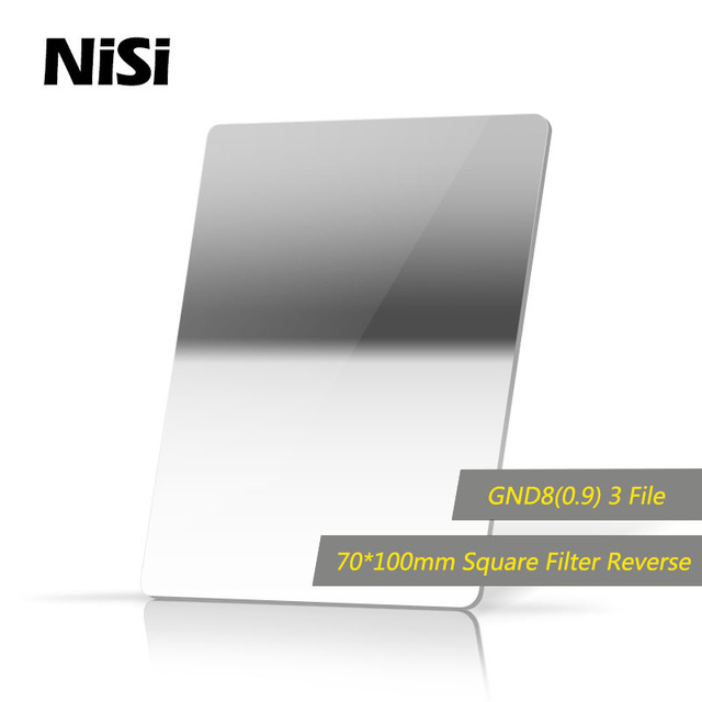 NiSi 70*100mm 3stops Reverse GND8(0.9) Square Gradient Neutral Density Filter dhl free shipping nisi 70 70mm square filter soft gnd8 0 9 filters gradient gray filter optical glass double sided coating