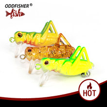 1pcs Grasshopper insects Fishing Lures 4cm 3g hard bait Flying Wobbler Lure Lifelike Artificial baits Bass Swimbait Pesca Isca(China)