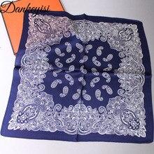 DANKEYISI Small Silk Man Scarf Men Pure Silk Handkerchief Wo
