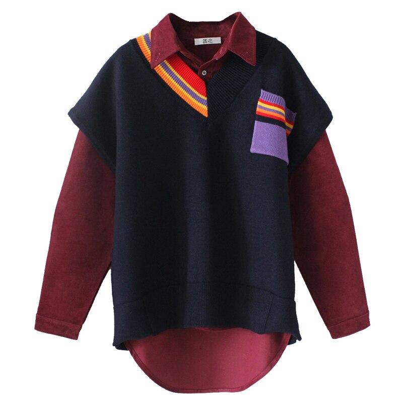 SuperStar IU Lee Ji Eun knitted vest 2018 spring new Korean version V collar loose and comfortable sleeveless sweater vest woman