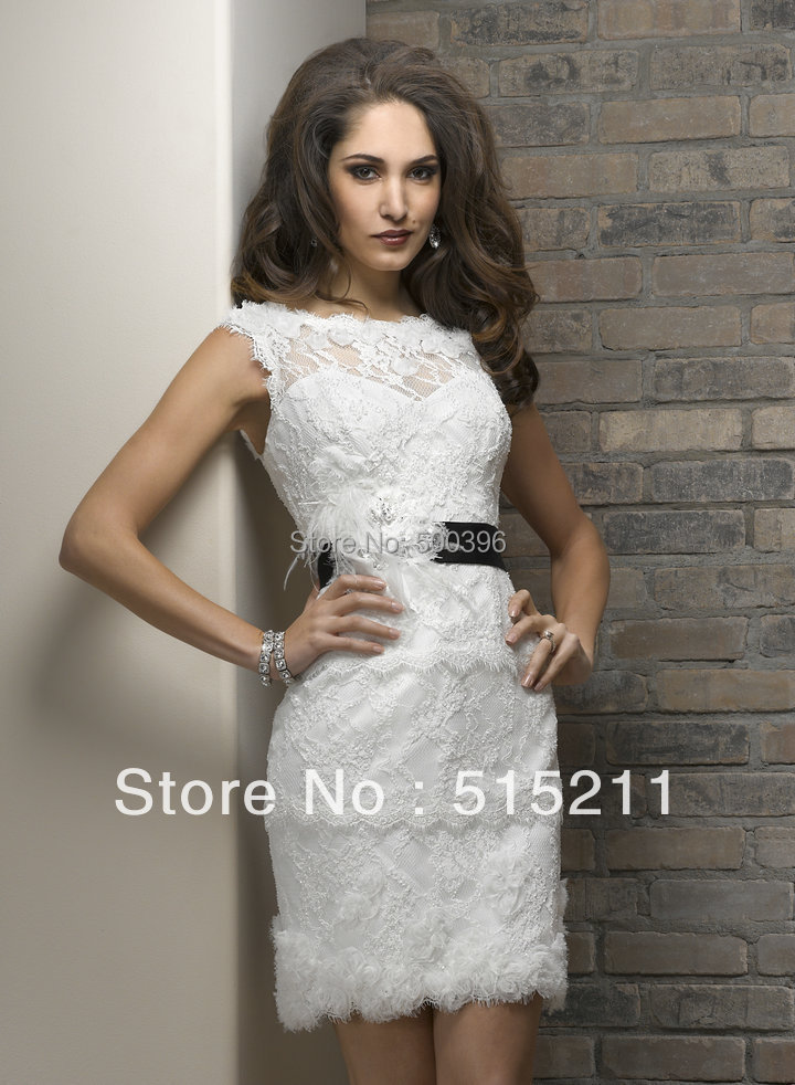 Aliexpress.com : Buy Cap Sleeves Open Back Elegant See Through ...