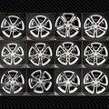 Angeno Marca Cruze Carbono Wheels Máscara decalque 10 estilos 1 conjunto (22 pcs)