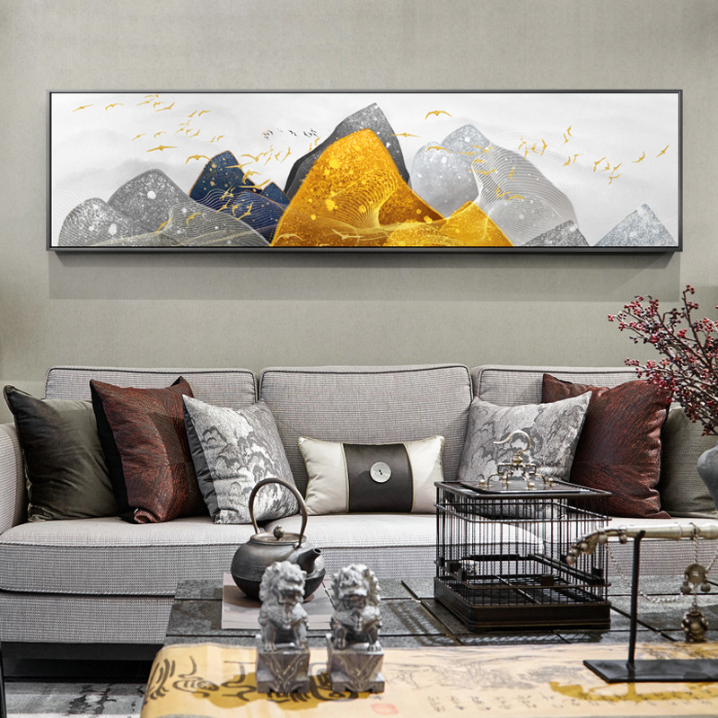 Новый китайский Стиль горы и реки пейзаж Облако море холст картина Плакаты и принты для Гостиная кабинет офис HD ...