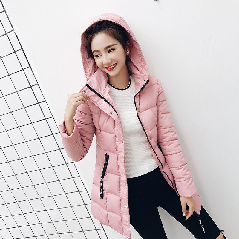 Winter coat women Hooded Military Parka Plus  Warm Puffer Jacket Women Winter Coat  Fashion Slim Down Cotton Outwear Long  Wear casual long hooded military parka plus size winter puffer jacket women 2017 new warm ladies coats down cotton outwear oka594