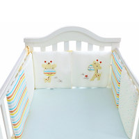 6pcs Baby Bed Bumper Comfortable Cotton Cartoon Infant Bumpers Crib Around Cushion Cot Protector Pillows Set Bedding set