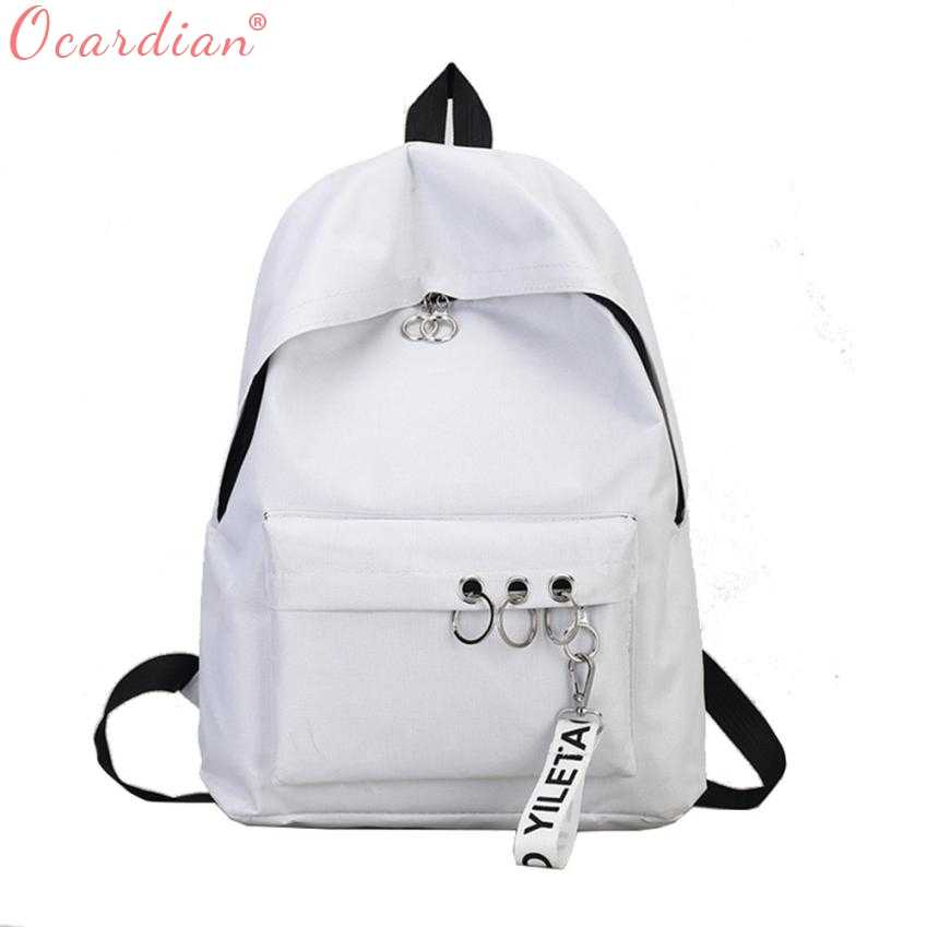 271525c41e23 OCARDIAN 2018 women backpack fashion canvas campus backpack female school  backpack anti theft waterproof backpack men