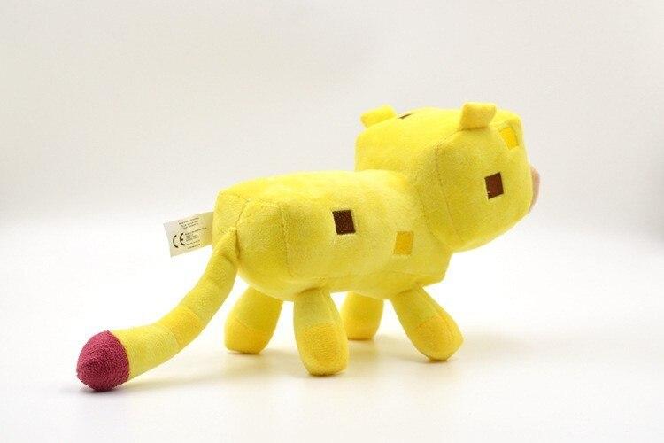 1 Sztuk Nadziewane Minecraft Pluszowe Zabawki żółty Minecraft Ocelot