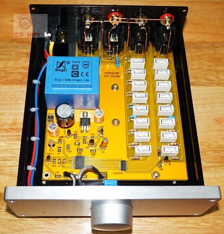 Équilibrée préamplificateur RCA à XLR Équilibré Convertir carte préampli entrée Asymétrique Conversion sortie Symétrique avec contrôle du volume