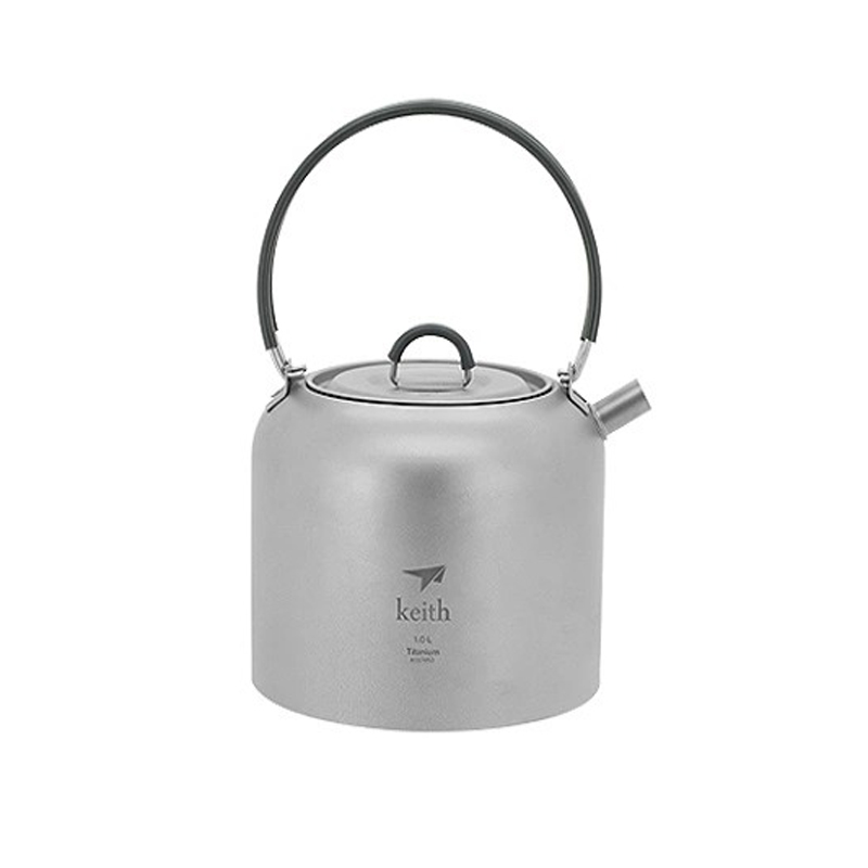 Keith High Quality Ultralight Titanium Water kettle Portable Camping Tea Pot Outdoor Coffee Kettle 1.5L  цены