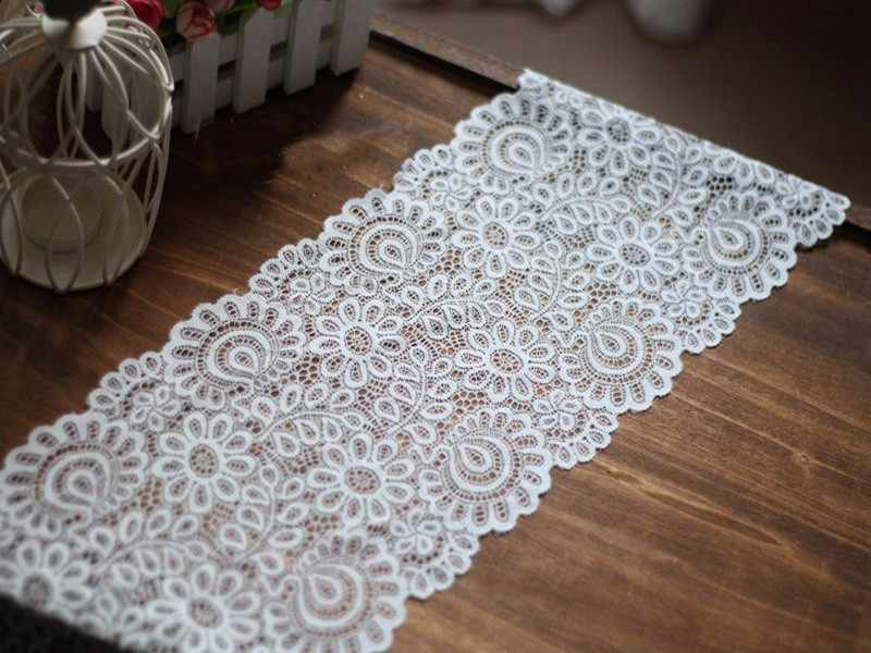 3YARDS 22CM BLACK WHITE LACE FABRIC DIY CRAFTS SEWING SUPPIES DECORATION ACCESSO