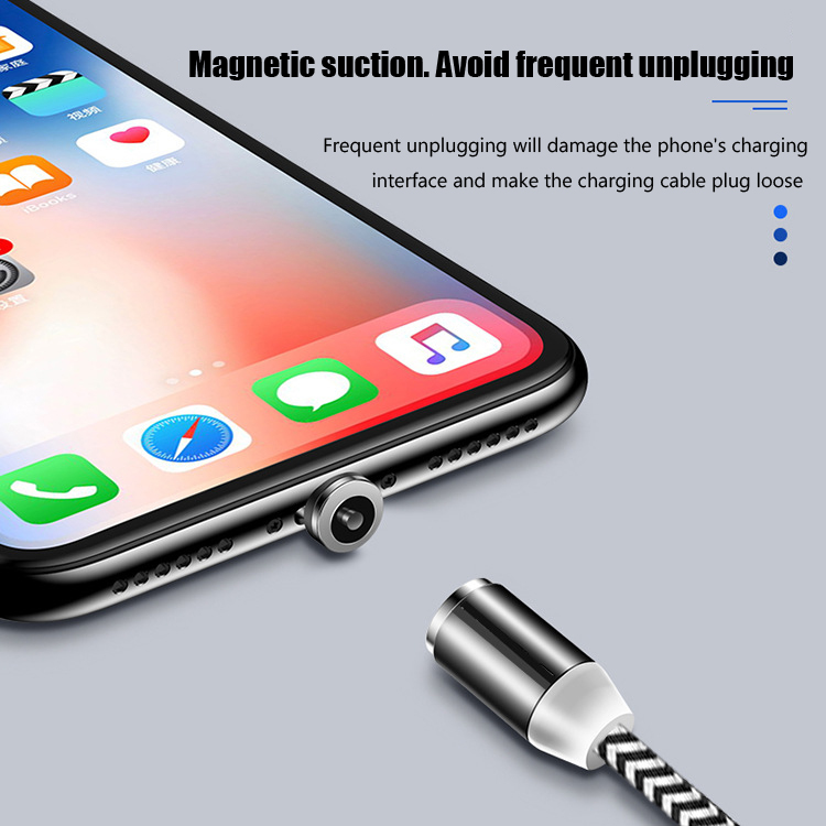LAPU 1M 3A Magnetic Cable Fast Charging Cable For iPhone Charger Data Charge Micro USB Cable Quick Charge 3 0 USB C Cable in Mobile Phone Cables from Cellphones Telecommunications