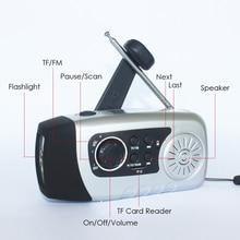 Телефон Зарядное Устройство аккумуляторная Рукоятка TF/FM Радио Солнечной Небольшой Генератор СВЕТОДИОДНЫЙ Фонарик