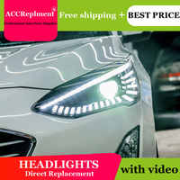 Auto Beleuchtung Stil LED Kopf Lampe für Ford Focus led scheinwerfer 2019 signal led drl H7 hid Bi-Xenon objektiv abblendlicht