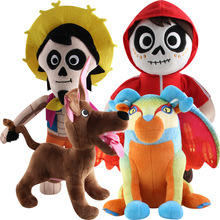 Disney Cartoon Anime Coco Plush Toys 25-30cm Miguel Hector Dante Dog Stuffed Dolls For Children Birthday Best Gifts