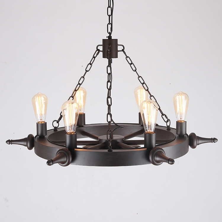 Aliexpress.com : Buy LOFT Metal Wheel Pendant Light