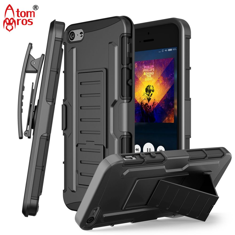 Rugged Shockproof Armor Belt Clip Holster Heavy Duty Cover Case For iPhone 5 / 5S / SE Cases Phone Stand Hold Shell Skin Fundas