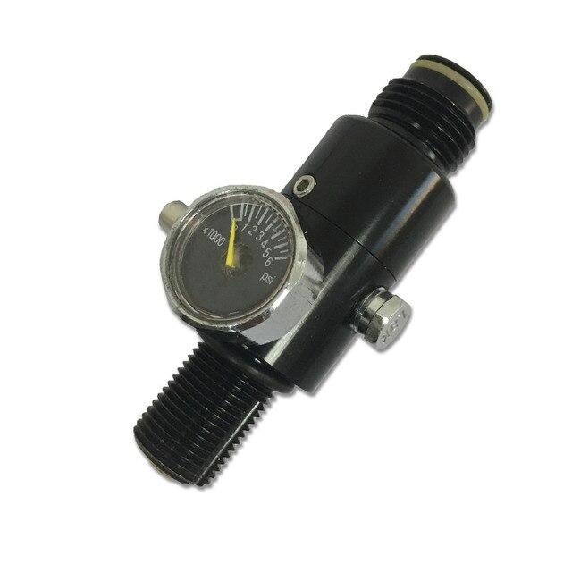 Ac961 acecare outsports 미니 가스 실린더 용 pcp hpa 4500psi 페인트 볼 탱크 레귤레이터 hunting air gun pcp 밸브 페인트 볼 사용
