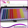 Free shipping 5trays a lot, Rainbow eyelash extension, yellow-pink-orange-red-brown-green-purple-blue 12 rows eyepatch gift