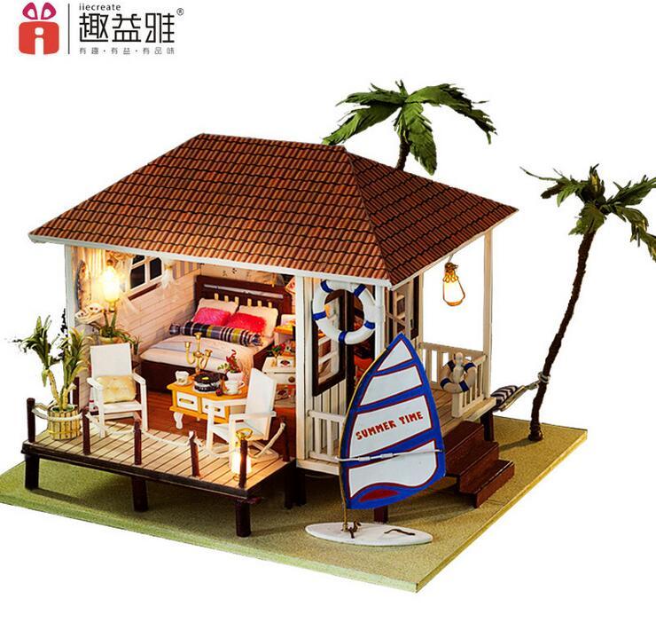 Casa De Muñecas De Madera Hechos A Mano Miniatura Muebles
