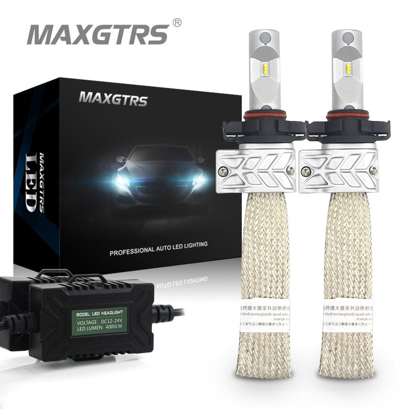2x PSX24W PSX26W P13W 8000lm для Lumi светодиодный S чип высокой ближнего света Белый автомобилей туман DRL источник света для вождения лампы автомобиля све...