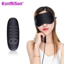 Konmison USB Temperatur Control Wärme Dampf Baumwolle Auge Maske Trockenen Müde Kompresse Heißer Pads Heizung Auge Pflege Massage SPA Auge patch