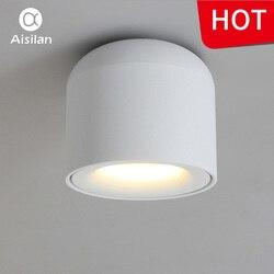 Aisilan montado en la superficie LED Downlight luz de punto de mazorca para vivir dormitorio cocina baño pasillo AC 90 v-260 v