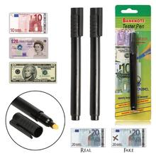 купить 2Pcs Money Detector Money Checker Currency Detector Counterfeit Marker Fake Banknotes Tester Pen Ink Hand Checkering Tools по цене 82.72 рублей