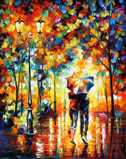 Couple Walking In The Rain Umbrella 5D DIY Diamond Painting Cross Stitch Of Diamonds Embroidery Mosaic Bed Room Decor