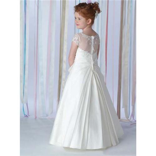 ba3e84cd3f 2016 white satin jewel neckline a line bowknot floor length vintage ...