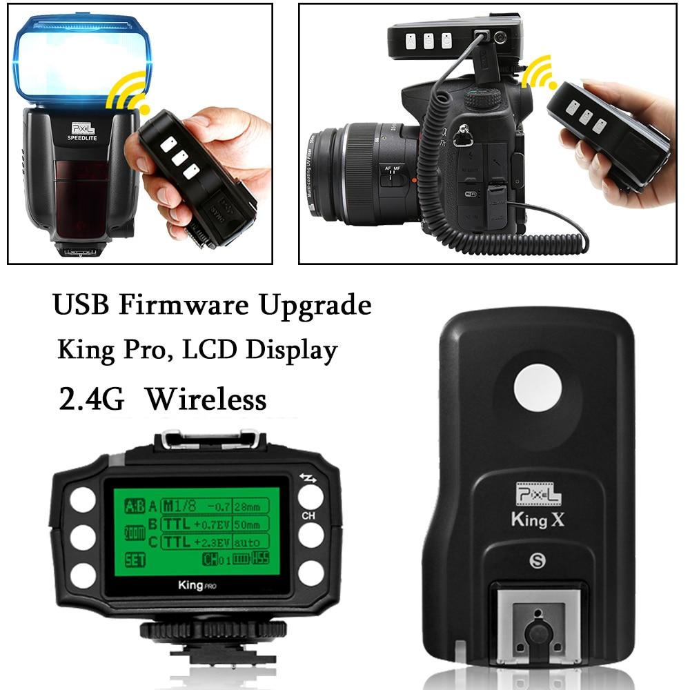 PIXEL King Pro Off-camera bezdrátový blesk Trigger Set Transceiver - Videokamery a fotoaparáty - Fotografie 1