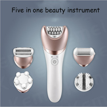5in1 wet dry women shaver female epilator shaving machine lady hair removal trimmer epilator for face,bikini,body,leg,underarms adoolla 5in1 electric epilator women facial leg eyebrow rechargeable remover hair bikini trimmer set lady shaver
