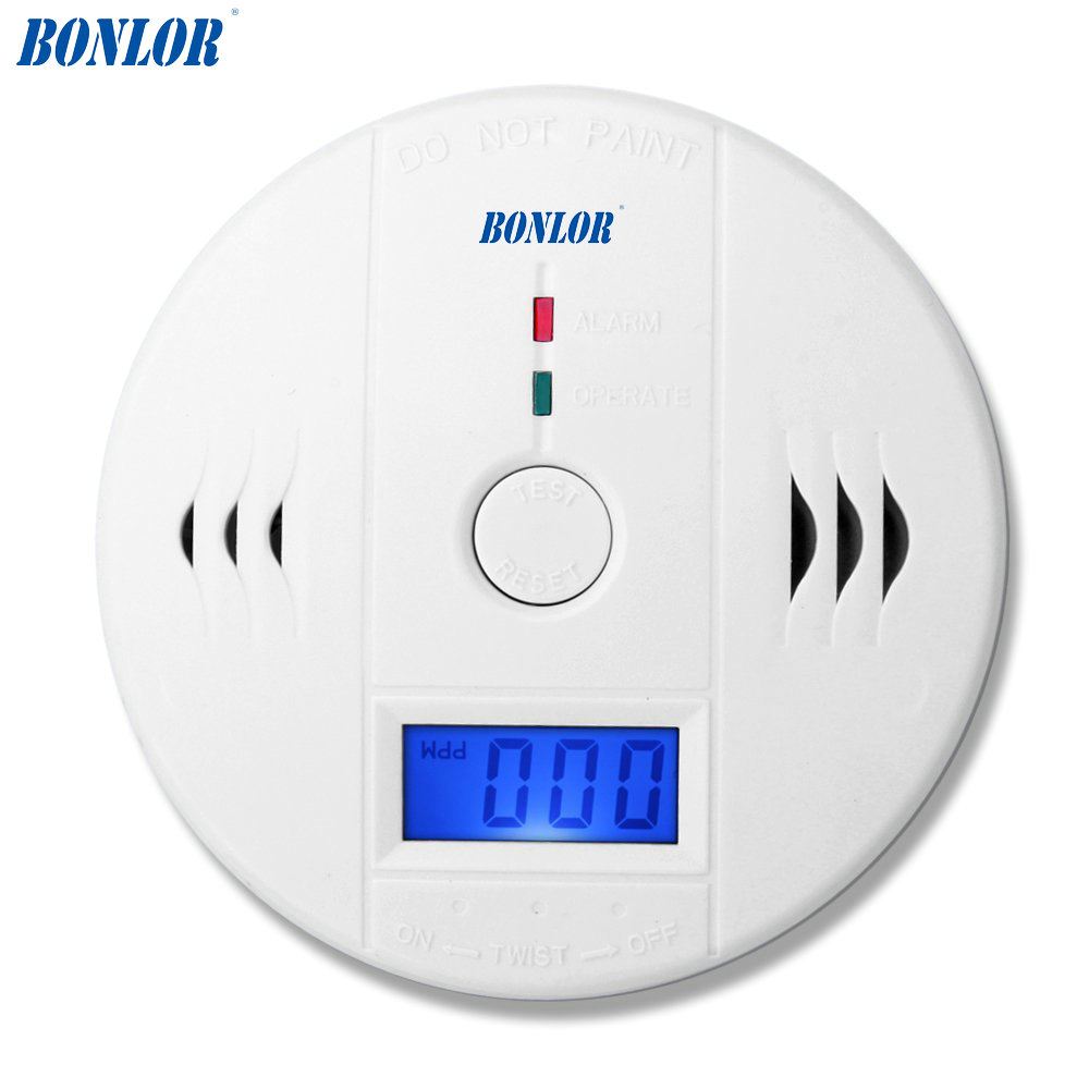 Carbon Monoxide Sensors Home Security 85db Warning High Sensitive Lcd Photoelectric Independent Co Gas Poisoning Alarm Detector Carbon Monoxide Detectors