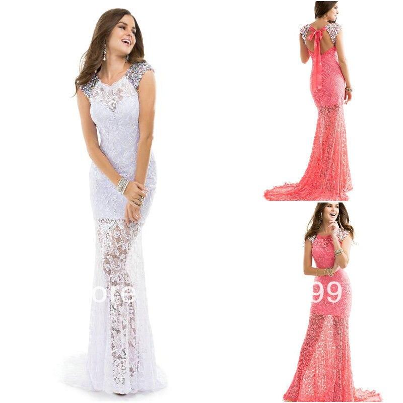 Bright Orange Mermaid Prom Dresses 2014 Elegant Mermaid C...