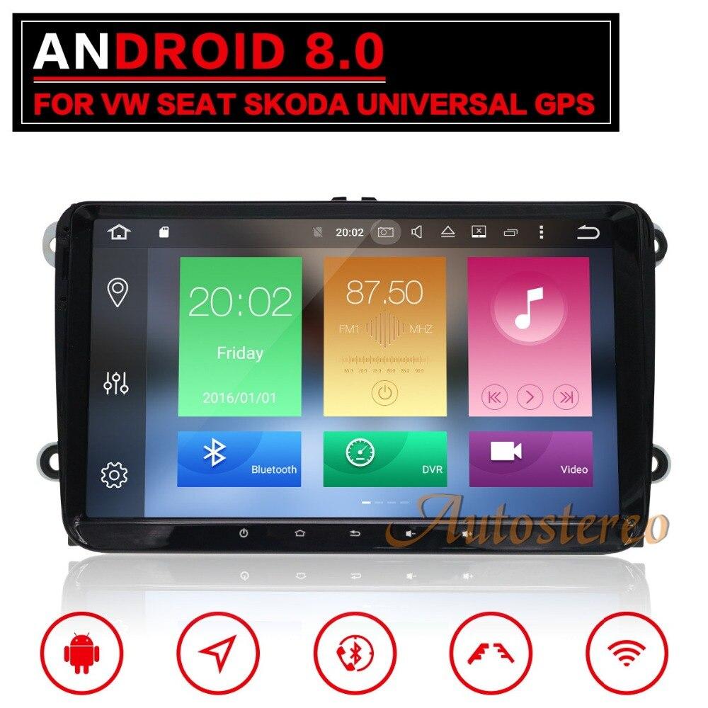 9 дюймов Android8 Автомобильный мультимедийный GPS navination системы для VW Volkswagen golf passat tiguan skoda yeti superb media no DVD плеер