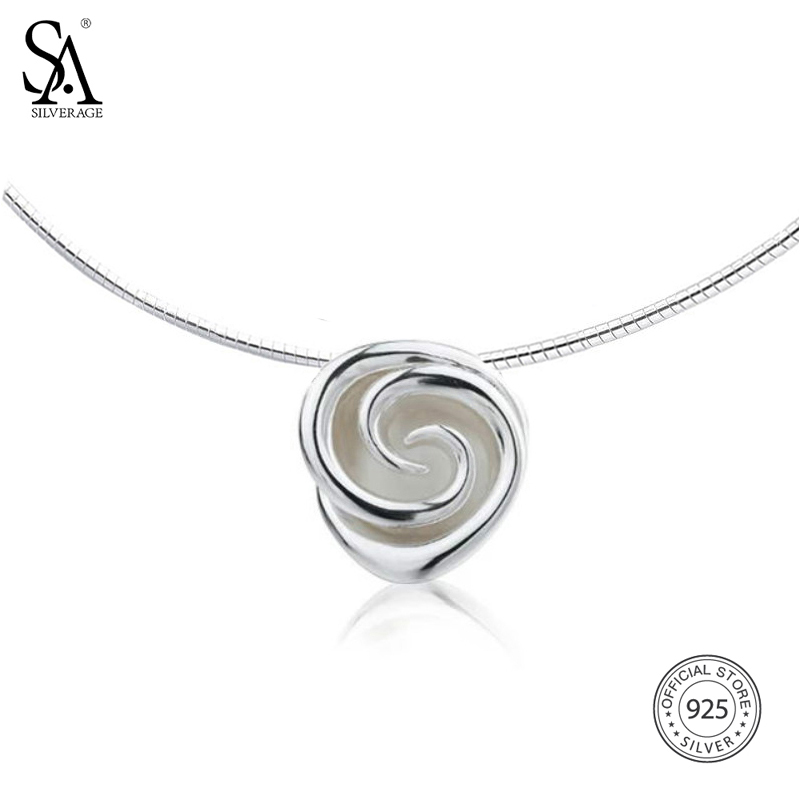 SA SILVERAGE 925 Sterling Silver Rose Choker Necklaces for Women Flower Big Pendant Necklaces 925 Silver Chokers Fine Jewelry sa silverage real 925 sterling silver crystal key necklaces pendants for women silver chain pendant necklaces wedding gifts