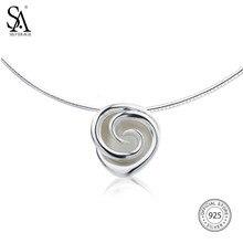 e59be97ed797 SA SILVERAGE 925 plata esterlina Rose collares del ahogador para las  mujeres flor collares pendientes grandes 925 gargantillas d.
