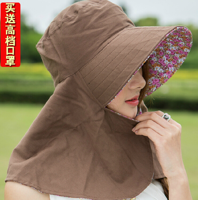 High Quality 2015 Summer Women s Sun-shading Sun Protection Hat Anti-uv  Folding Electric Bicycle Big Sun Hat 9c4af792123