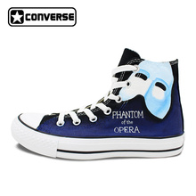 Converse All Star Women Shoes Men Chuck Taylor Canvas Sneakers Design Phantom Of the Opera Hand Painted Skateboarding Shoe