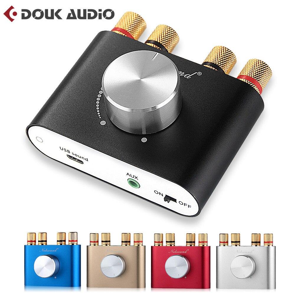 2018 Ultima Nobsound Bluetooth Hi-Fi 4.0 Amplificatore Digitale Stereo 2.0 Canali Mini TPA3116 AMPLIFICATORE Ad alta potenza 50 W * 2 Spedizione Gratuita