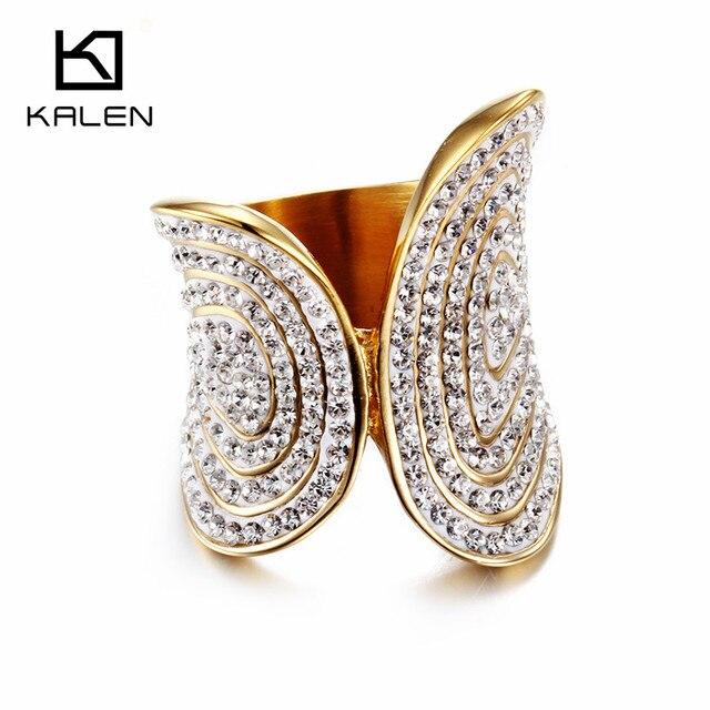 20ff134470f7 Nuevo Anillo de diamantes de imitación blanco completo de acero inoxidable  Perú Lima Color oro mujeres